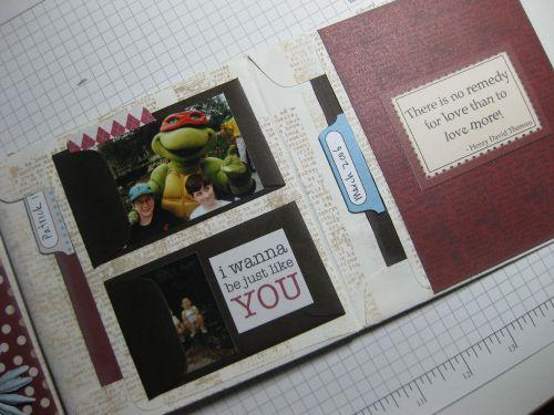 mini coin envelopes as photo mats
