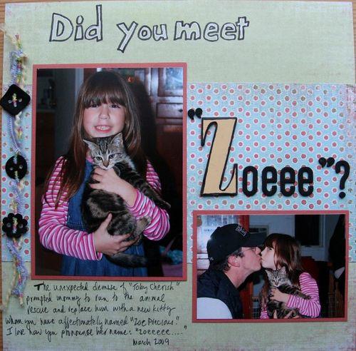 """LO """"did you meet Zoeeeee?"""""""